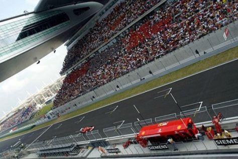 Vor dem GP von China 2005