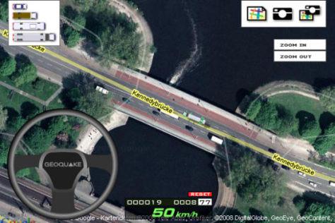 Fahrsimulator für Google Maps