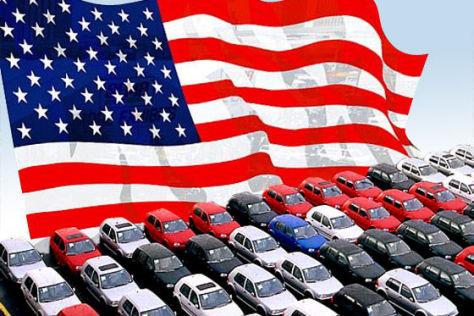 Autos Flagge USA amerikanische