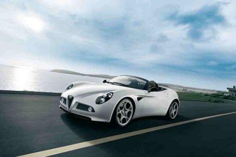 Vom Supersportwagen Alfa 8C Spider werden nur 500 Stück gebaut.