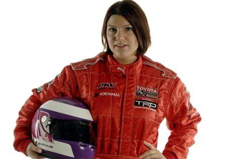 Eine Frau testet in der F1