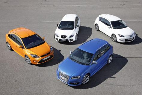 Audi S3 Sportback Ford Focus ST Mazda3 MPS Seat Leon Cupra