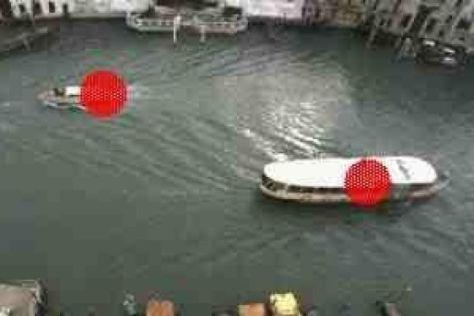 Venedigs Verkehrs-Pranger: Rote Punkte markieren Boote, die zu schnell sind.