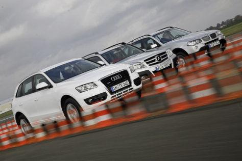 Audi Q5 3.0 TDI BMW X3 xDrive 30d Mercedes-Benz GLK 320 CDI