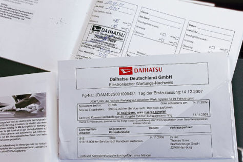 E-Scheckheft von Daihatsu