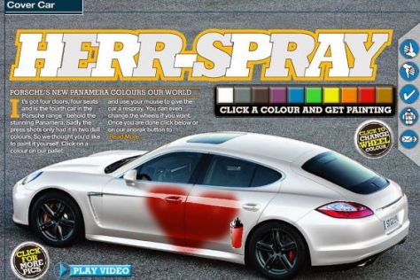 Porsche Panamera Spray-Aktion Internet