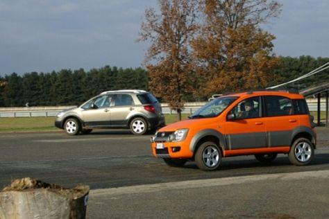 Fiat Sedici und Panda Cross