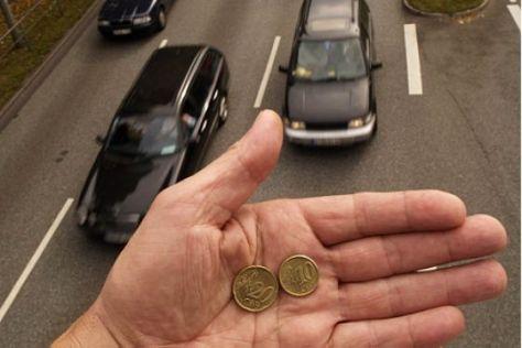 Autobahn Geld Montage