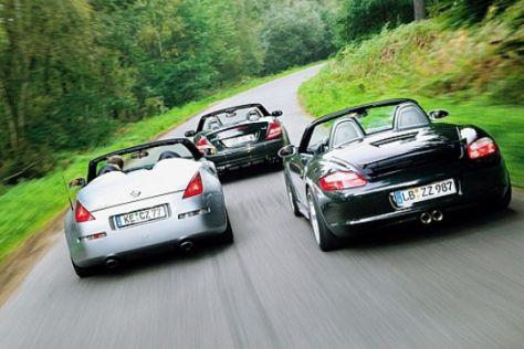 Drei getunte Roadster