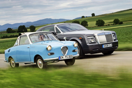 Rolls-Royce Phantom Coupé trifft Googomobil