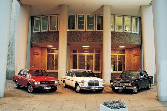 Audi 100, BMW 2000, Mercedes 200
