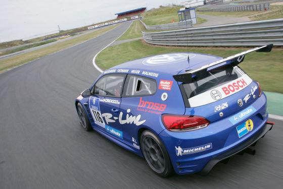 Da geht was: Mit dem Scirocco GT24 zeigt VW auch im Motorsport Zähne.
