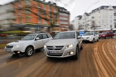 Subaru Forester 2.0 D VW Tiguan 2.0 TDI Renault Koleos 2.0 dCi Mitsubishi Outlander 2.2 DI-D