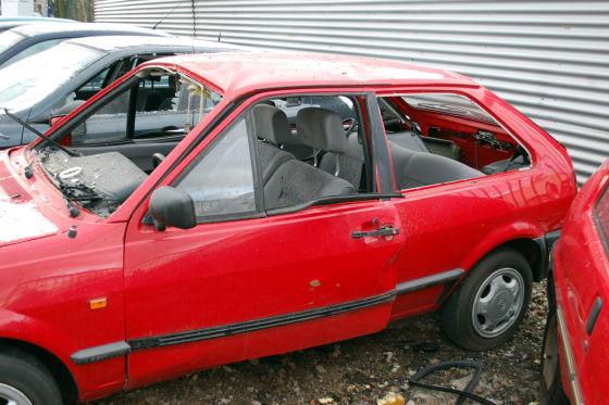 Gesprengter VW Polo