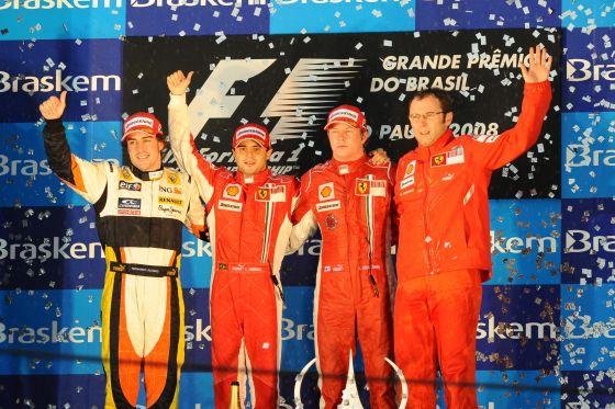 Massa siegt in Brasilien vor Alonso und Räikkönen, verliert aber den WM-Titel.