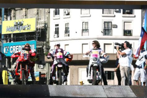 Rallye Dakar 2009 Start Christina Meier (100),