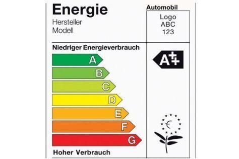 So könnte ein Öko-Label für Autos aussehen.