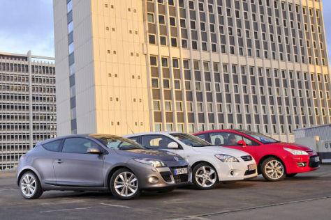 Renault Megané Coupé Kia pro cee'd Citroën C4 Coupé