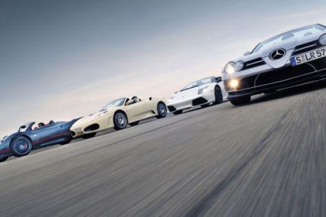 Vier exklusive Roadster