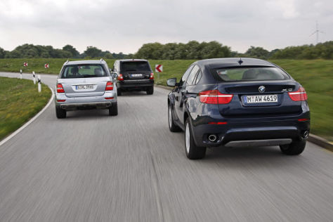 Range Rover Sport TDV6 BMW X6 xDrive 30d Mercedes ML 320 CDI 4Matic