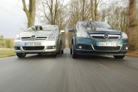 Diesel-Vergleich: Zafira gegen Corolla Verso