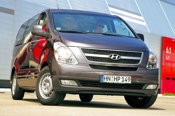 Dafür ist aber für den Hyundai H1-Kleinbus der volle Preis fällig.
