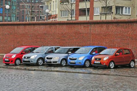 Skoda Fabia Daihatsu Cuore Opel Agila Kia Picanto Dacia Sandero