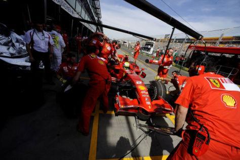 Formel-1-Saison 2008, Australien GP, Scuderia Ferrari, Boxenstopp Felipe Massa