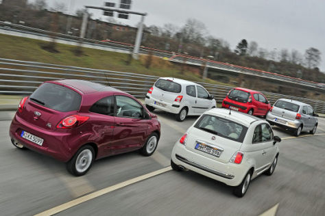Citroën C1 Ford Ka Fiat 500 Renault Twingo VW Fox