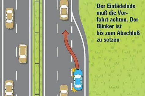 Spurwechsel auf der Autobahn