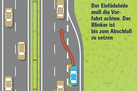 Spurwechsel Auf Der Autobahn Die Kleine Bab Fahrschule