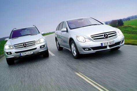 Test Mercedes M- gegen R-Klasse