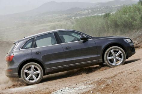 Das SUV Audi Q5 im Gelände.