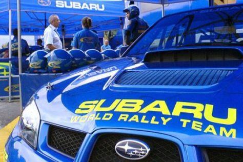 Beifahrer im Subaru Impreza WRC