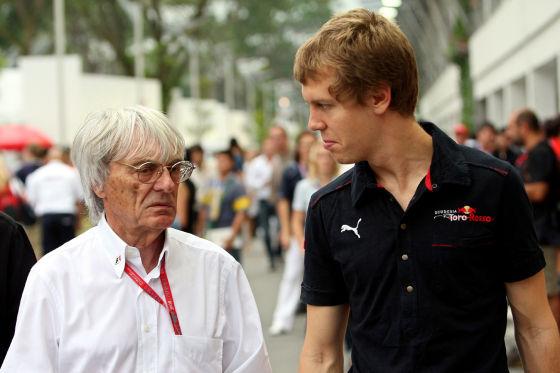 Auch das deutsche Formel-1-Talent Sebastian Vettel ist für Bernie Ecclestone ein Grund Deutschland zu mögen.
