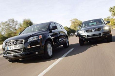 Audi Q7 gegen VW Touareg