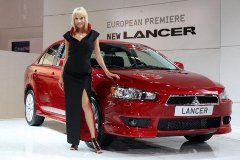 So appetitlich präsentierte sich Mitsubishi auf der IAA 2007. Dieses Jahr hat der Hersteller abgesagt.