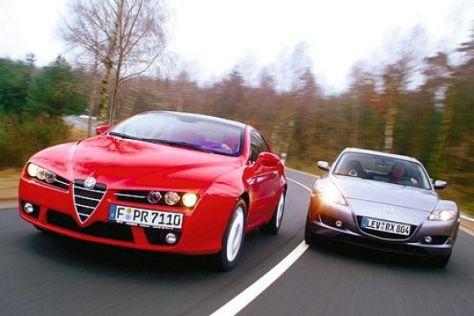 Test Alfa Brera gegen Mazda RX-8