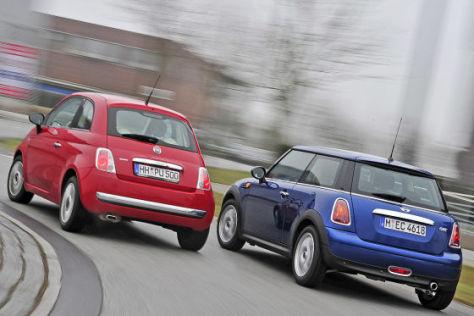 Mini One Fiat 500 1.4 16V