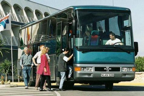 Sicherheit im Reisebus