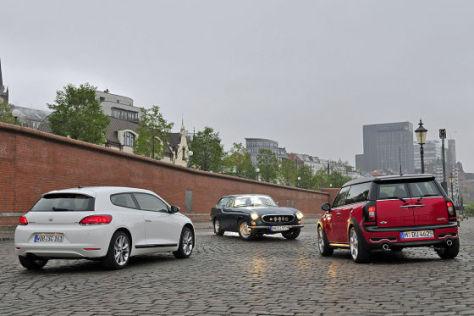 Mini Cooper S Clubman Volvo 1800 ES VW Scirocco