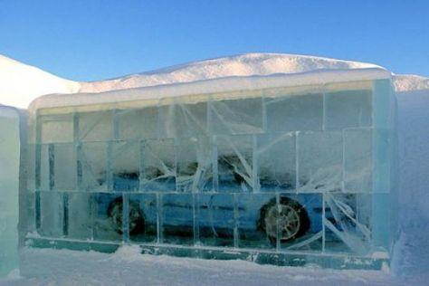 Eiszeit bei Saab