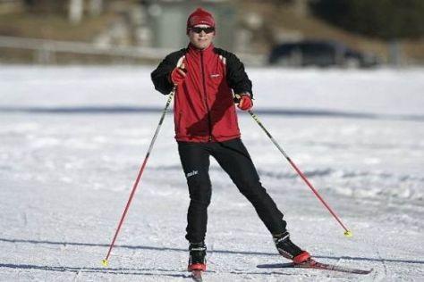 Ein wenig langsamer als im Audi A4 DTM: Mattias Ekström im Schnee