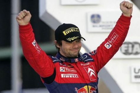 Sieger Sébastien Loeb war erleichtert, dass in Norwegen alles gut ging