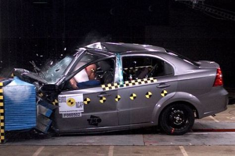 Crashtest Chevrolet Aveo
