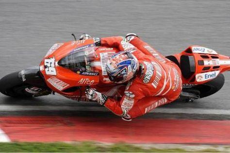 Nicky Hayden kämpft noch mit dem Fahrverhalten seiner neuen Ducati