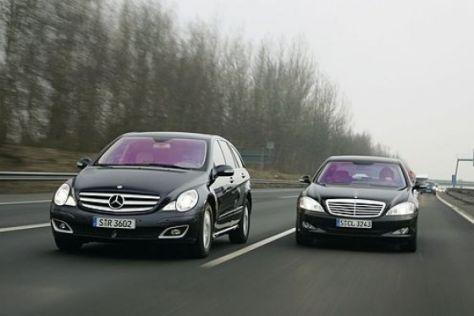 Mercedes R- gegen S-Klasse