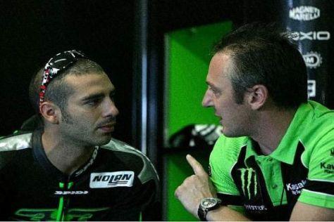 Marco Melandri und Michael Bartholemy treffen sich zum Test in Katar