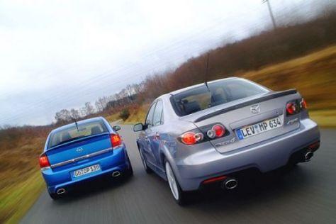 Opel Vectra OPC gegen Mazda6 MPS
