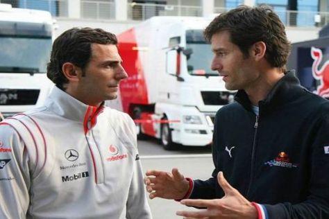 Zwei führende Köpfe der Fahrergewerkschaft: Pedro de la Rosa und Mark Webber
